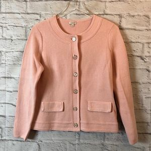 TALBOTS Petite Button Front Cardigan Sweater